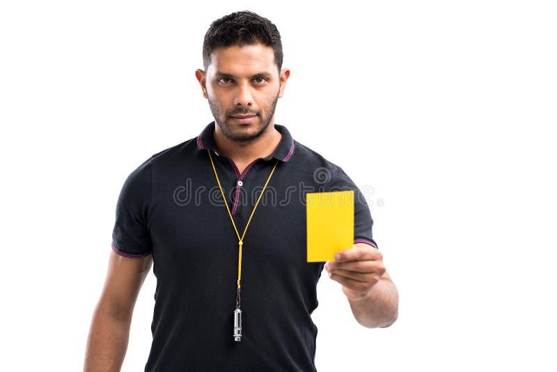 Κίτρινη κάρτα στοκ εικόνες