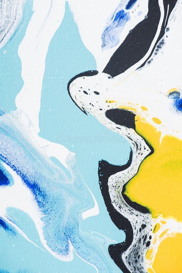 κίτρινη και ανοικτό μπλε δημιουργική ζωγραφική ως αφηρημένη σύσταση στοκ φωτογραφία με δικαίωμα ελεύθερης χρήσης