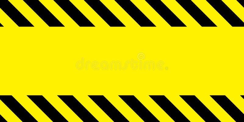 Κίτρινη και μαύρη ταινία οδοφραγμάτων απεικόνιση αποθεμάτων