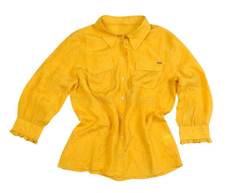 Κίτρινη μπλούζα στοκ εικόνες με δικαίωμα ελεύθερης χρήσης