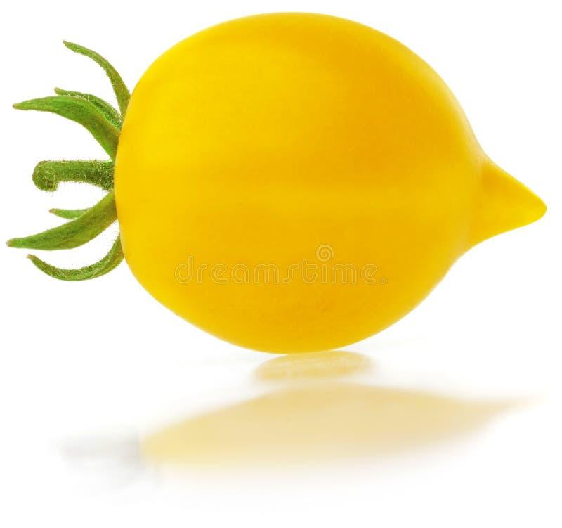 Κίτρινη ντομάτα στο λευκό στοκ εικόνα με δικαίωμα ελεύθερης χρήσης