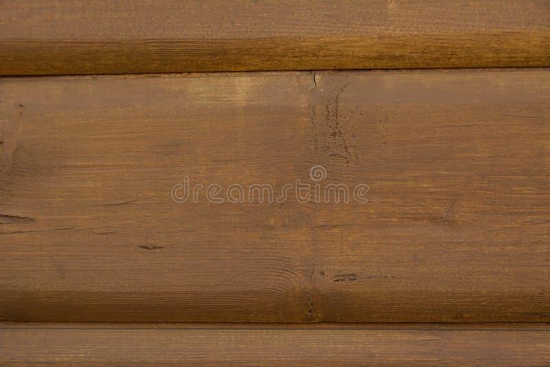 Κίτρινη παλαιά ξύλινη σύσταση, επιφάνεια του σπιτιού κούτσουρων στοκ εικόνα