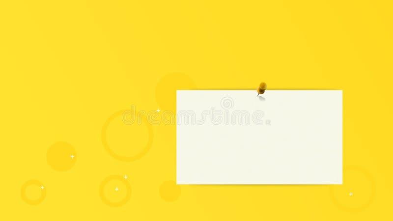 Κίτρινη πορτοκαλιά περίληψη σχεδίου υποβάθρου με την καρφίτσα και το έγγραφο απεικόνιση αποθεμάτων