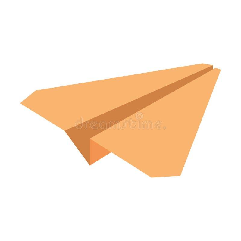 κίτρινη συμβολική μικρογραφία αεροπλάνων εγγράφου ελεύθερη απεικόνιση δικαιώματος