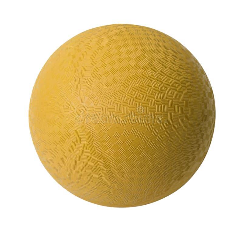 Κίτρινη σφαίρα τεχνάσματος στοκ εικόνες με δικαίωμα ελεύθερης χρήσης