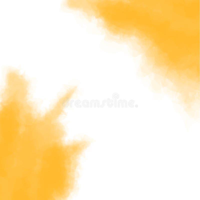 Κίτρινη σύσταση, αφηρημένο χρωματισμένο χέρι υπόβαθρο watercolor με το χάσμα - μεταξύ επίσης corel σύρετε το διάνυσμα απεικόνισης ελεύθερη απεικόνιση δικαιώματος