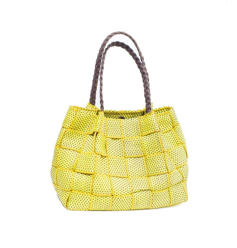 Κίτρινη τσάντα γυναικών στοκ φωτογραφίες με δικαίωμα ελεύθερης χρήσης