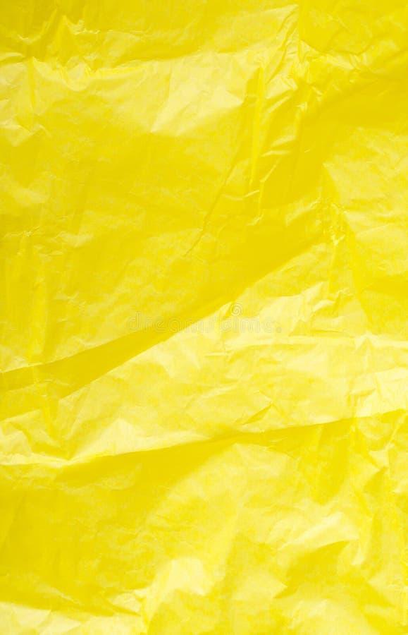 Κίτρινη τσαλακωμένη κινηματογράφηση σε πρώτο πλάνο εγγράφου Φωτεινό υπόβαθρο r στοκ φωτογραφία με δικαίωμα ελεύθερης χρήσης