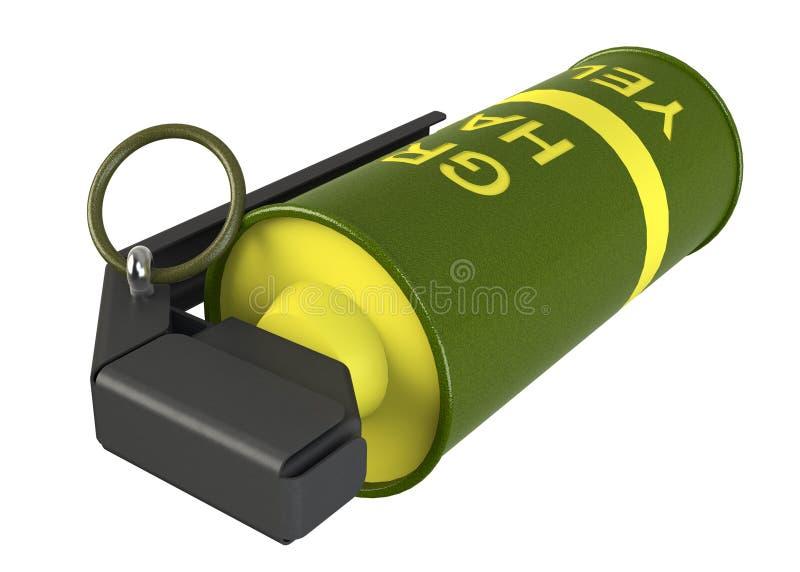 Κίτρινη χειροβομβίδα καπνού διανυσματική απεικόνιση