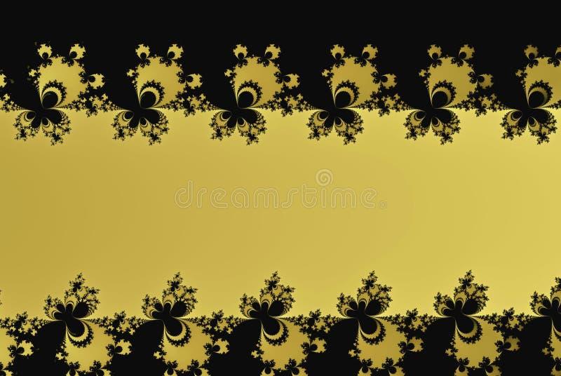 Κίτρινη fractal μορφή δαντελλών με ένα διάστημα αντιγράφων απεικόνιση αποθεμάτων