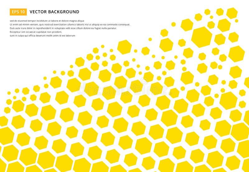 Κίτρινη hexagon αφηρημένη τεχνολογία σχεδιασμού έννοιας σχεδίων backgr ελεύθερη απεικόνιση δικαιώματος