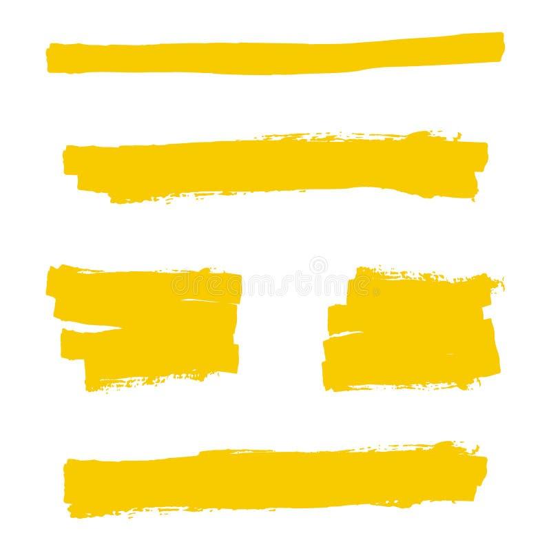 Κίτρινος δείκτης highlighter διανυσματική απεικόνιση