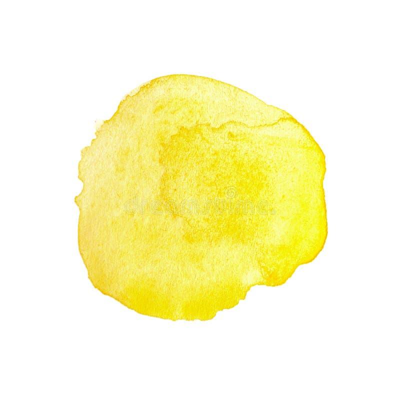 Κίτρινος κύκλος watercolor στοκ φωτογραφία