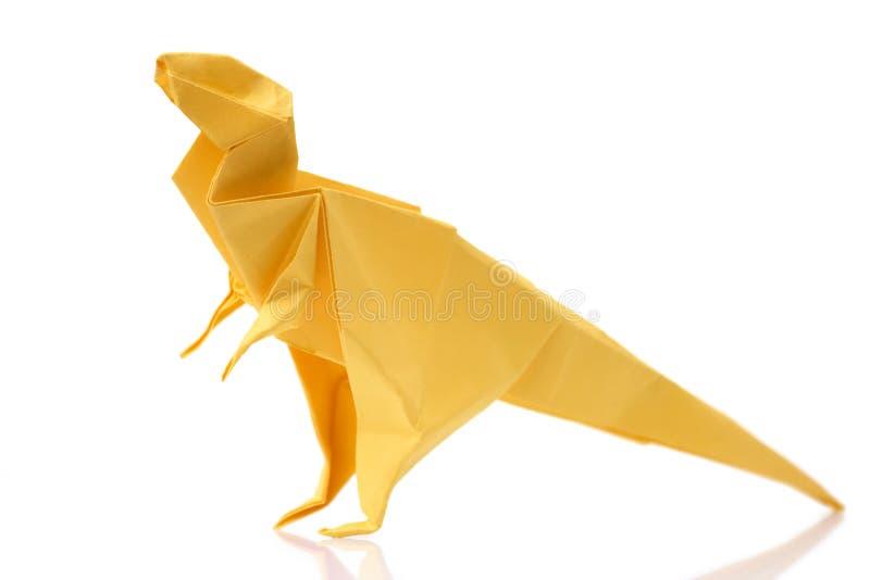 Κίτρινος τυραννόσαυρος στο άσπρο υπόβαθρο στοκ εικόνα με δικαίωμα ελεύθερης χρήσης
