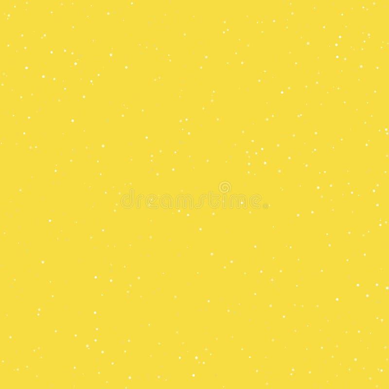 Κίτρινος φωτεινός μαγικός ουρανός με τα αστέρια διανυσματική απεικόνιση