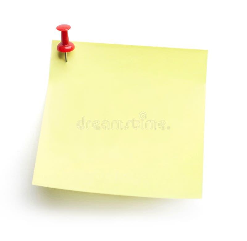 Κίτρινο έγγραφο σημειώσεων στοκ φωτογραφία