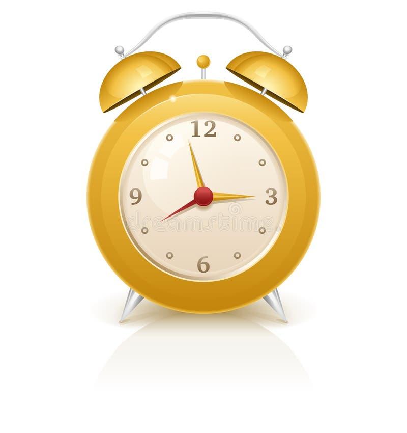 Κίτρινο αναδρομικό ξυπνητήρι στοκ φωτογραφία με δικαίωμα ελεύθερης χρήσης