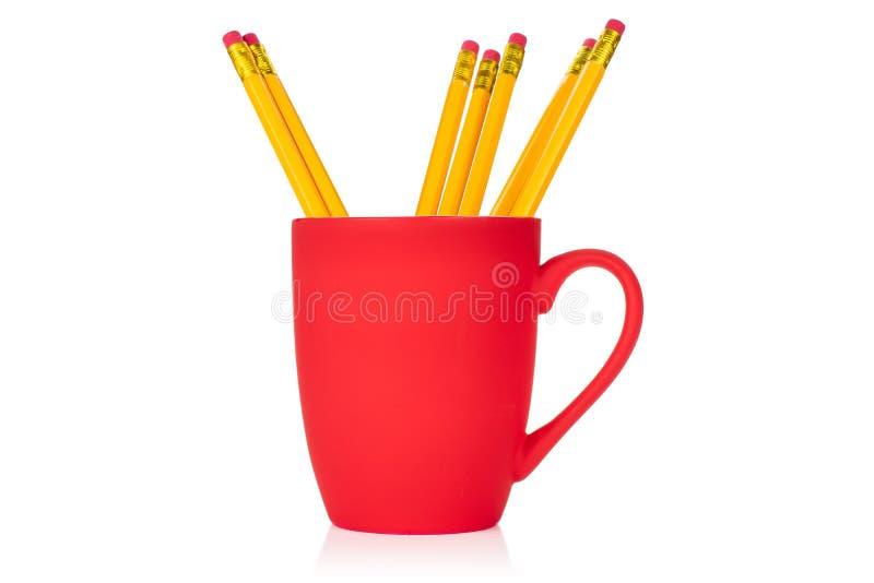 Κίτρινο απλό μολύβι στο λευκό στοκ εικόνες με δικαίωμα ελεύθερης χρήσης