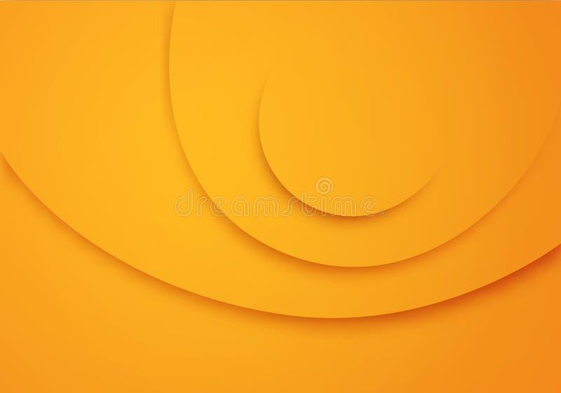 Κίτρινο διανυσματικό υπόβαθρο με τα λωρίδες κύκλων σύσταση βελούδου Απεικόνιση για τα επιχειρησιακά εμβλήματα ή τις θερινές αφίσε απεικόνιση αποθεμάτων