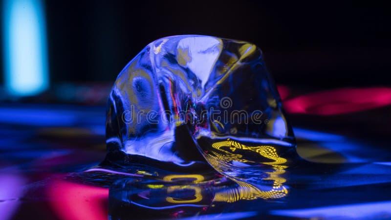 Κίτρινο θέμα πάγου στοκ φωτογραφία με δικαίωμα ελεύθερης χρήσης