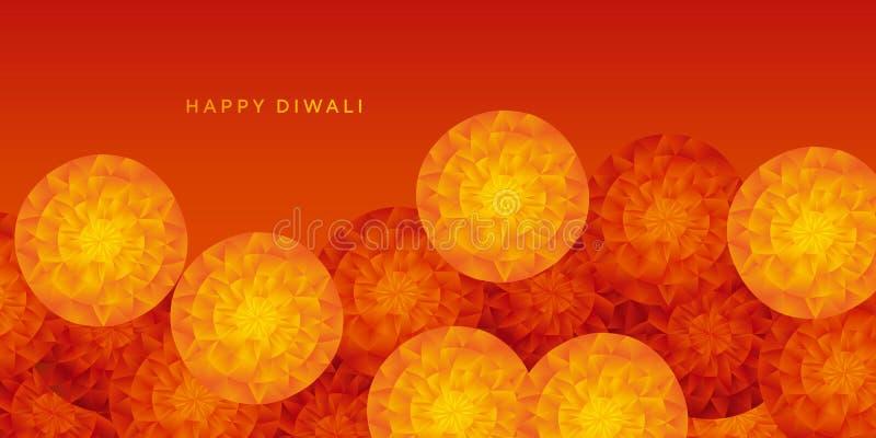 Κίτρινο και κόκκινο αφηρημένο ινδικό floral σχέδιο διανυσματική απεικόνιση