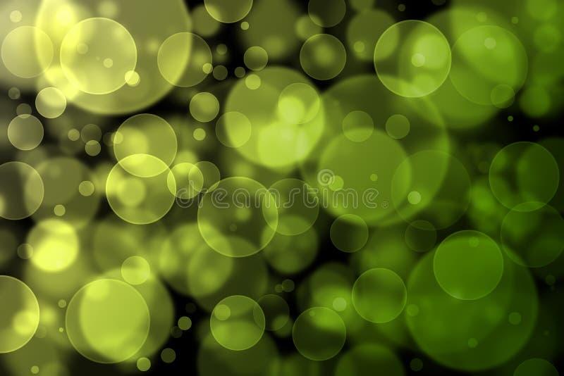 Κίτρινο και πράσινο αφηρημένο ελαφρύ υπόβαθρο bokeh διανυσματική απεικόνιση