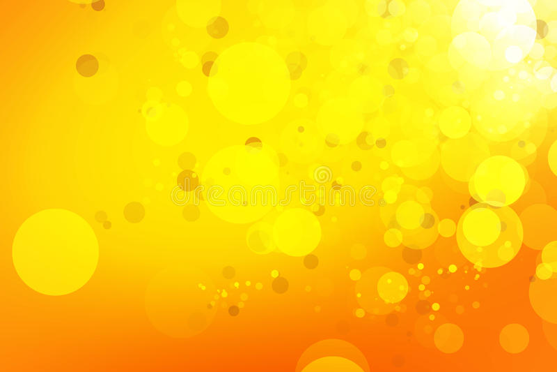 Κίτρινο και χρυσό υπόβαθρο bokeh στοκ εικόνες