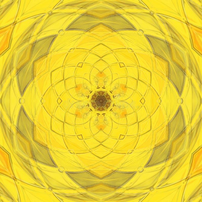 Κίτρινο καλειδοσκόπιο ελεύθερη απεικόνιση δικαιώματος