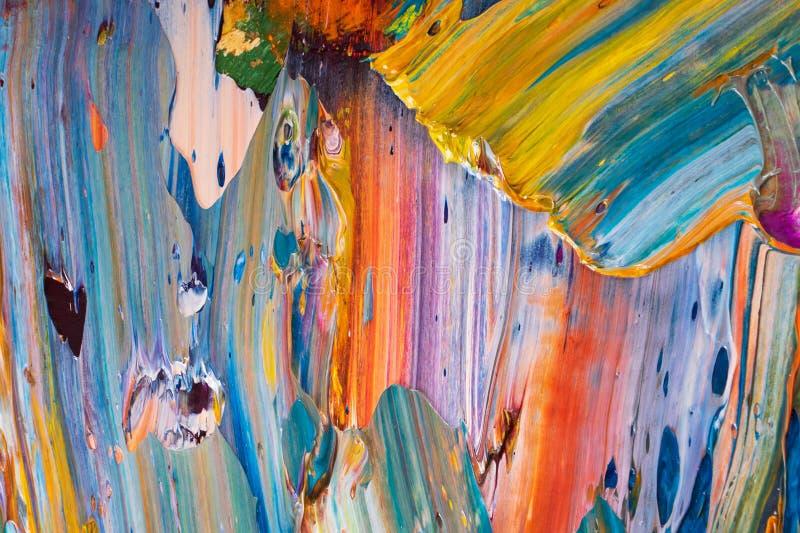 Κίτρινο, κόκκινο, μπλε, άσπρο χρώμα στην παλέτα στοκ φωτογραφία με δικαίωμα ελεύθερης χρήσης