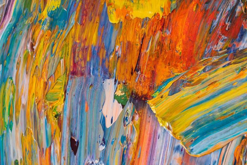 Κίτρινο, κόκκινο, μπλε, άσπρο χρώμα στην παλέτα στοκ φωτογραφίες