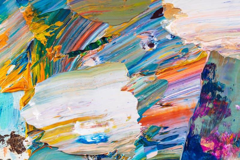 Κίτρινο, κόκκινο, μπλε χρώμα στην παλέτα στοκ εικόνες με δικαίωμα ελεύθερης χρήσης
