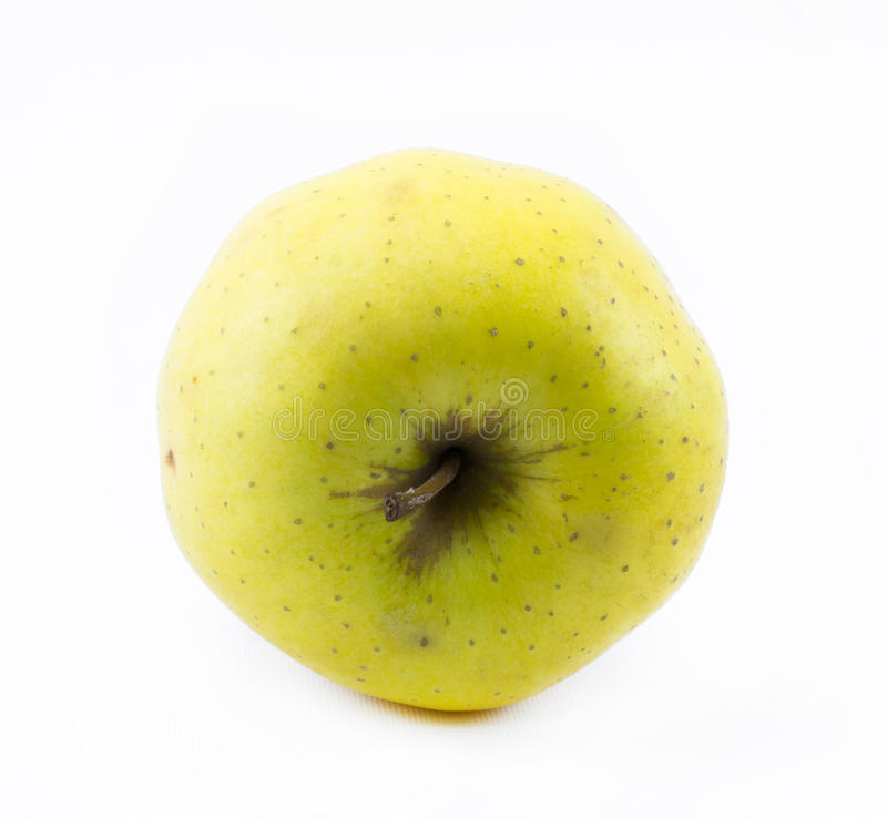 Download Κίτρινο μήλο σε ένα άσπρο υπόβαθρο - πλάγια όψη Στοκ Εικόνες - εικόνα από κίτρινος, φρέσκος: 62701140