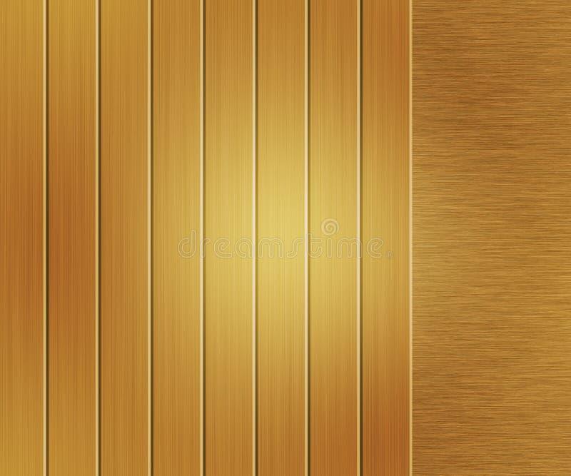 Κίτρινο μεταλλικό βουρτσισμένο σύσταση μέταλλο στοκ εικόνα