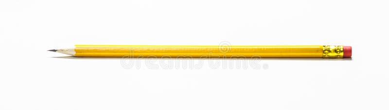 Κίτρινο μολύβι με τη γόμα στο τέλος στοκ εικόνα με δικαίωμα ελεύθερης χρήσης