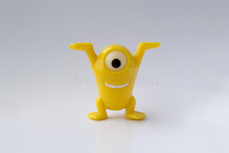 Κίτρινο παιχνίδι στοκ εικόνες με δικαίωμα ελεύθερης χρήσης