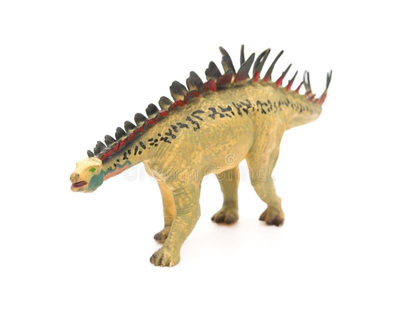 Κίτρινο παιχνίδι huayangosaurus στοκ εικόνες