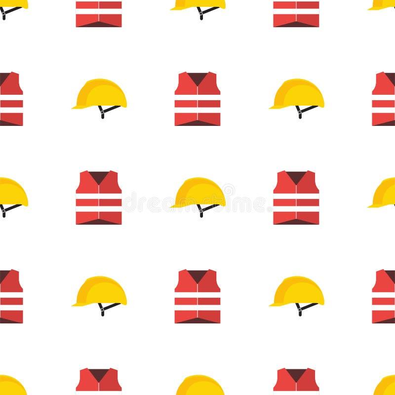 Κίτρινο πλαστικό σκληρό καπέλο ασφάλειας κρανών ή κατασκευής διανυσματική απεικόνιση