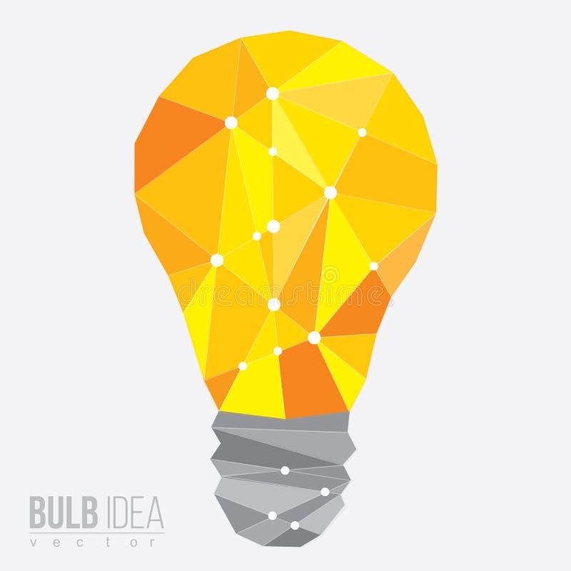 Κίτρινο πολύγωνο βολβών, διανυσματική απεικόνιση ελεύθερη απεικόνιση δικαιώματος