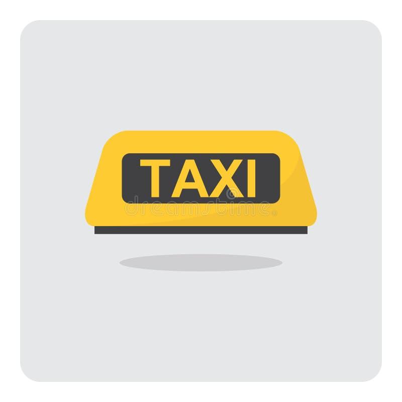 Κίτρινο σημάδι ταξί για το εικονίδιο στεγών αυτοκινήτων ελεύθερη απεικόνιση δικαιώματος