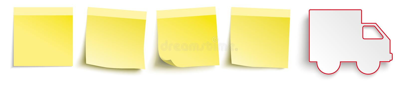 Κίτρινο στέλνοντας αυτοκίνητο επιγραφών ραβδιών διανυσματική απεικόνιση