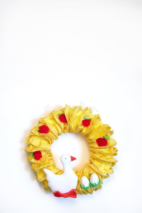 Κίτρινο στεφάνι Πάσχας στοκ φωτογραφίες με δικαίωμα ελεύθερης χρήσης