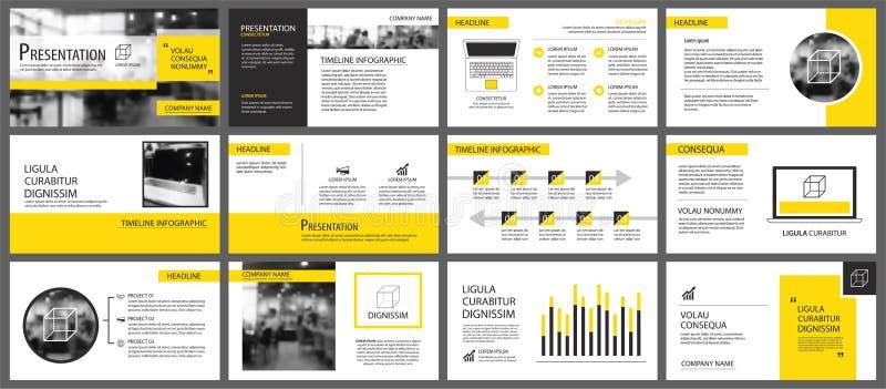 Κίτρινο στοιχείο για τη φωτογραφική διαφάνεια infographic στο υπόβαθρο Παρουσίαση ελεύθερη απεικόνιση δικαιώματος