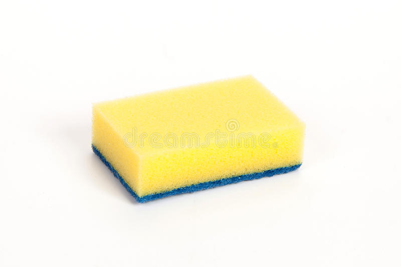 Κίτρινο σφουγγάρι καθαρισμού στοκ φωτογραφίες με δικαίωμα ελεύθερης χρήσης