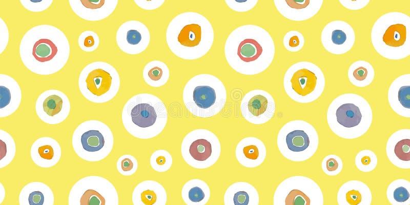 Κίτρινο σχέδιο με το σημείο διανυσματική απεικόνιση
