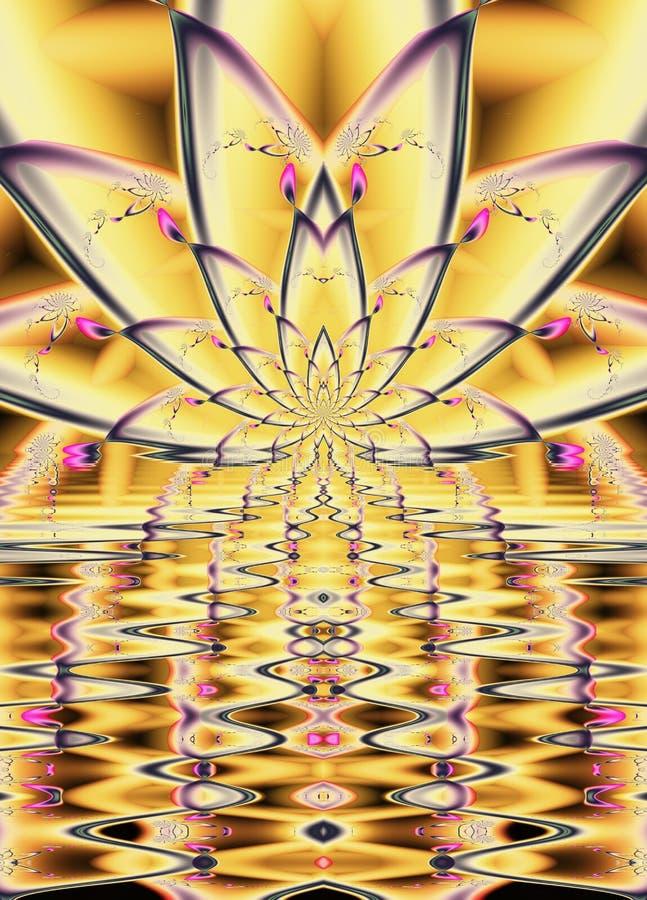 Κίτρινο σχέδιο Lotus απεικόνιση αποθεμάτων