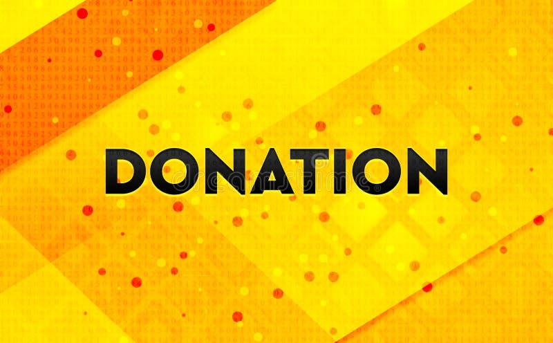 Κίτρινο υπόβαθρο εμβλημάτων δωρεάς αφηρημένο ψηφιακό απεικόνιση αποθεμάτων