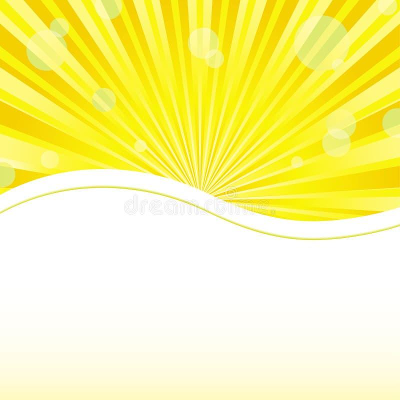 Κίτρινο υπόβαθρο με τα φω'τα ηλιοφάνειας και θέση για το κείμενο ελεύθερη απεικόνιση δικαιώματος