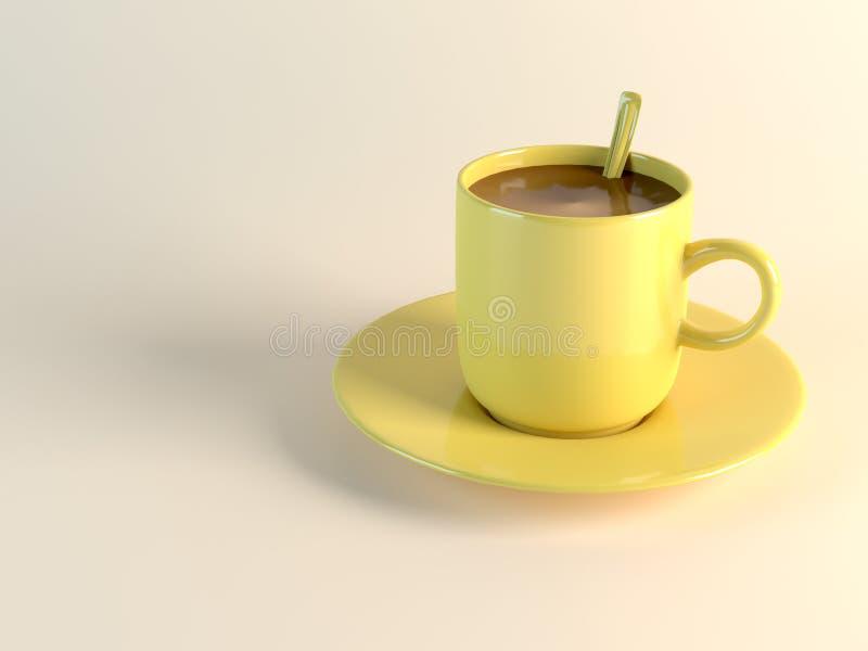 Κίτρινο φλυτζάνι καφέ απεικόνιση αποθεμάτων