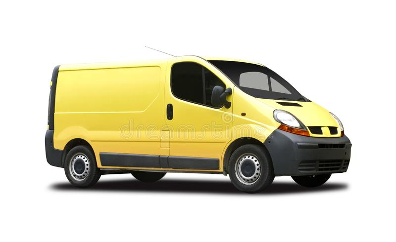 Κίτρινο φορτηγό παράδοσης στοκ φωτογραφία