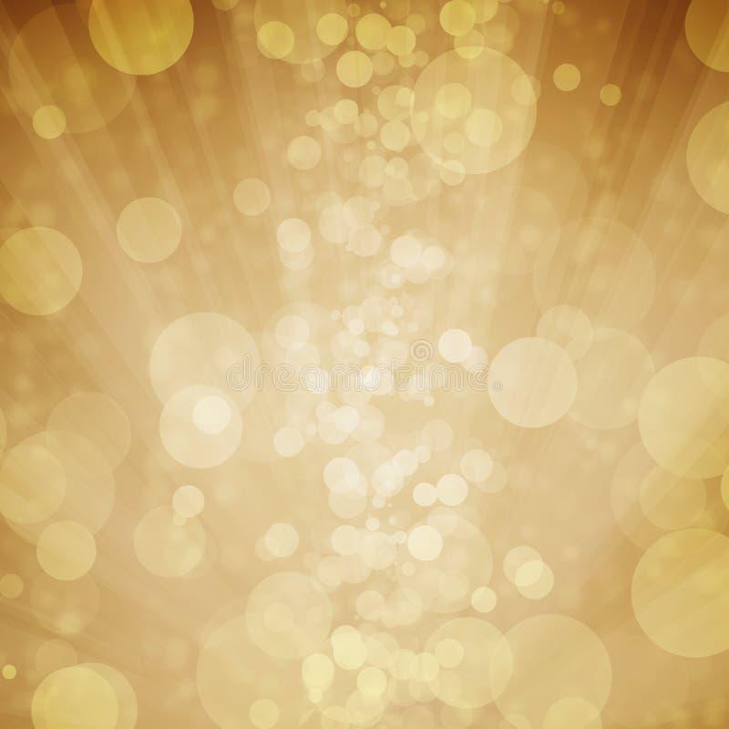 Κίτρινο bokeh με το αστέρι, φεγγάρι, ελαφρύ υπόβαθρο στοκ φωτογραφίες με δικαίωμα ελεύθερης χρήσης